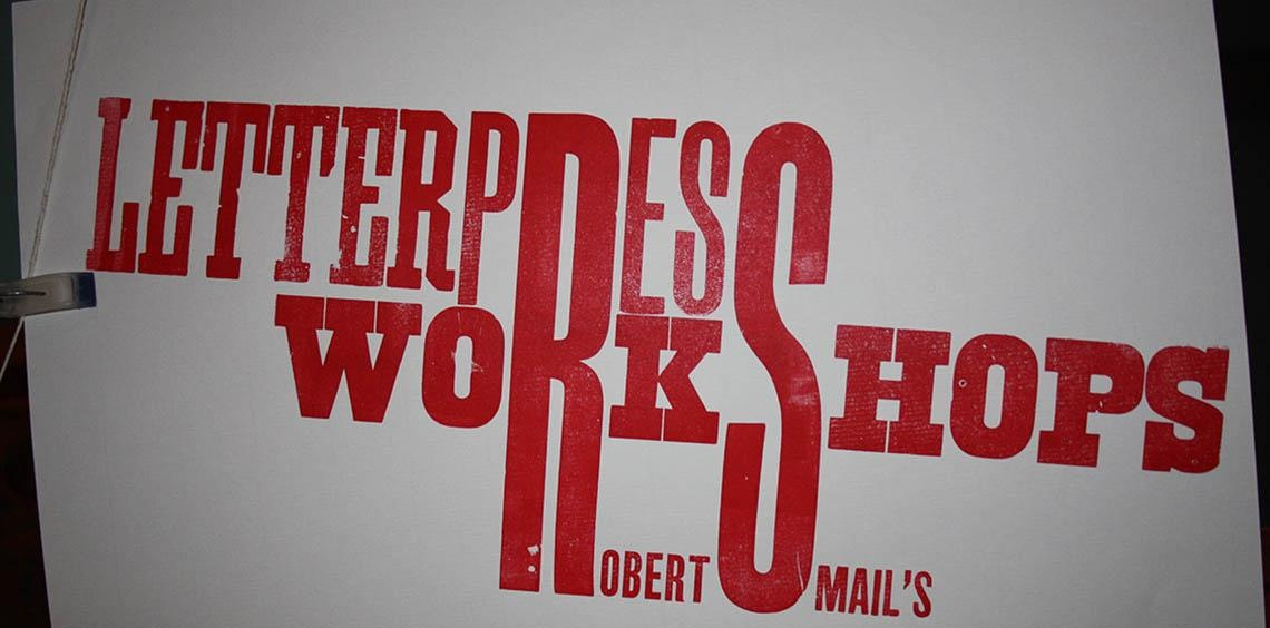 Letterpress Workshop 5 November